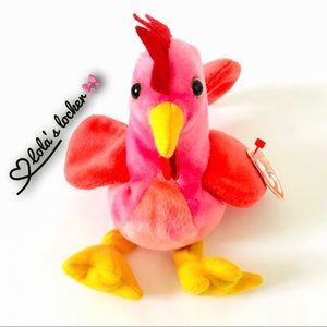 Vintage Ty Beanie Baby Strut Rooster